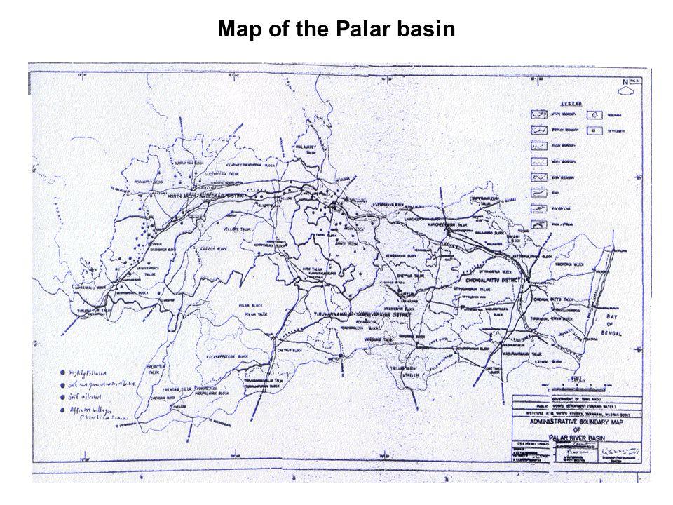 Map of the Palar basin
