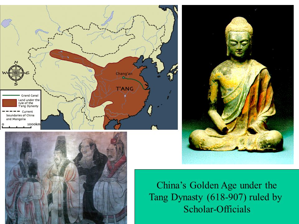 China's Golden Age under the Tang Dynasty ( ) ruled by Scholar-Officials