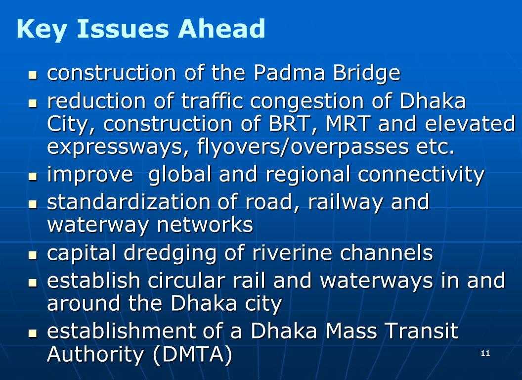 1111 construction of the Padma Bridge construction of the Padma Bridge reduction of traffic congestion of Dhaka City, construction of BRT, MRT and ele