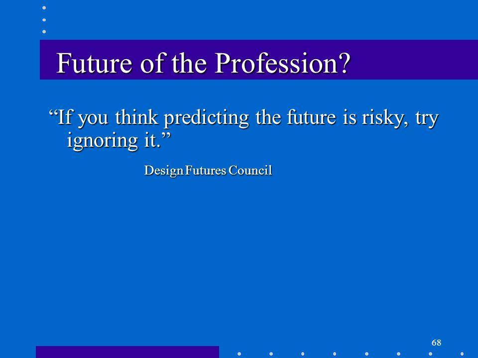 68 Future of the Profession.