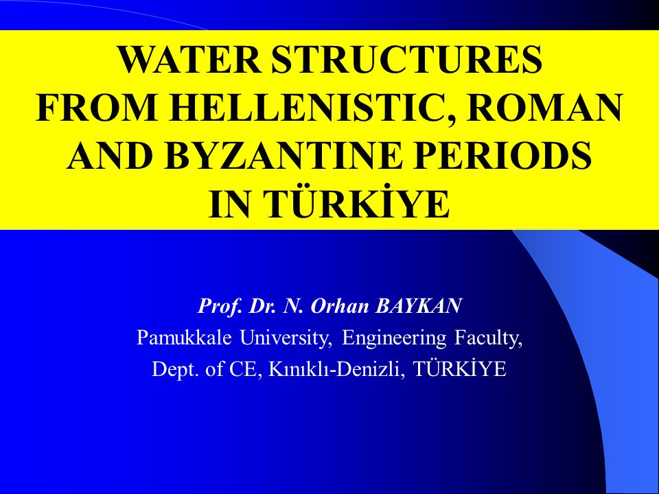 CONCLUSION SHAPING THE FUTURE  Professional deep investigations and protecting studies;  Marking water supply and sewerage system to city plan, if any;  Touristical trekking activities;  Evaluating the climate change;  New horizons to hydrological methods.