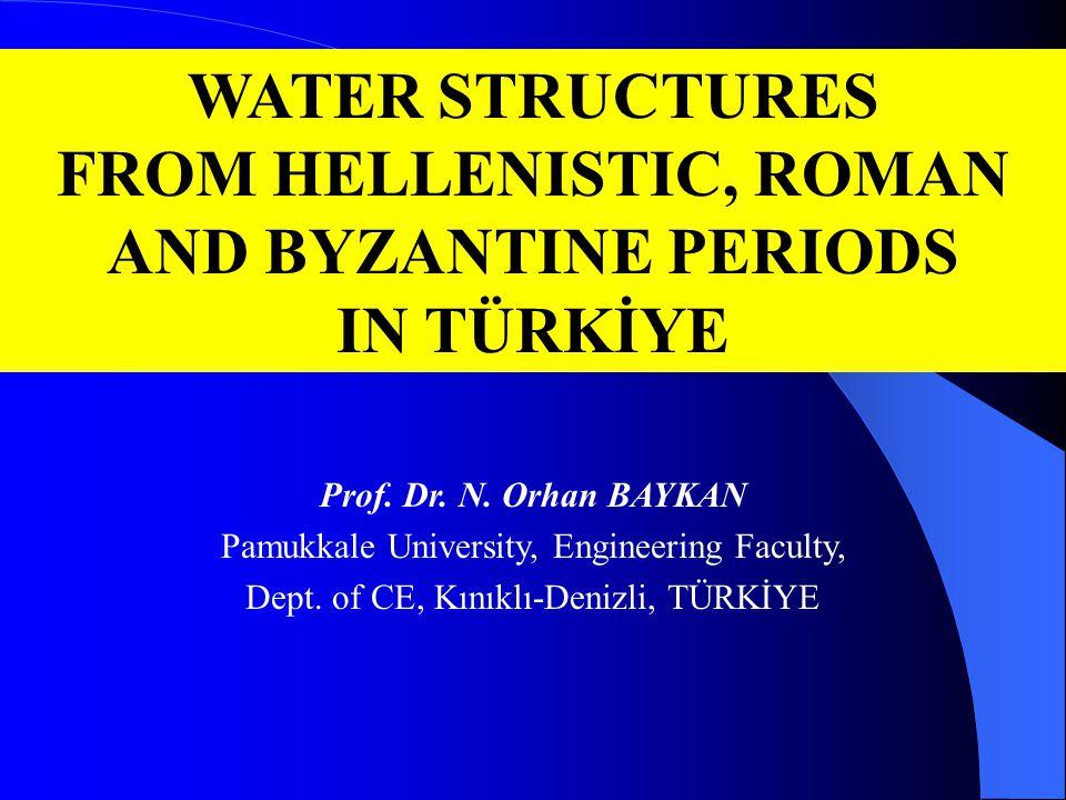 Pamukkale, Denizli/TR; water supply gallery (Hierapolis)