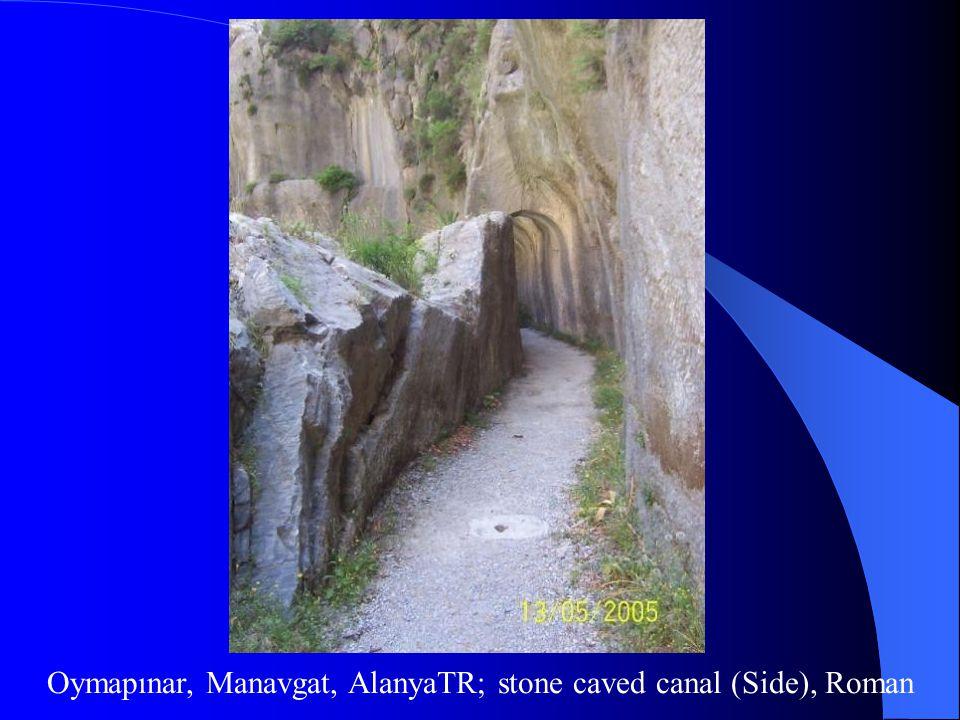 Oymapınar, Manavgat, AlanyaTR; stone caved canal (Side), Roman