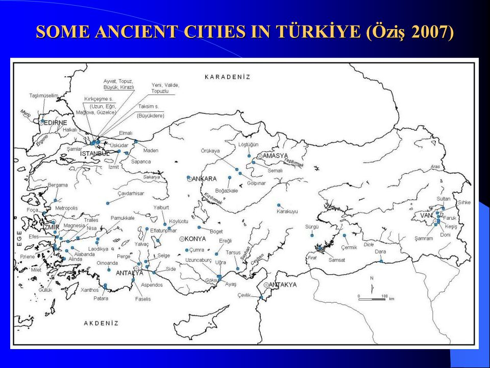 This presentation scopes Hellenistic, Roman and Byzantine Periods only 330 BC, Hellenistic period; 27 BC, Roman Empire Period; Dividing of Roma in 395, Eastern Roma and after a certain period, in 575, Early Byzantine; in 867, Middle Byzantine and after 1025 Late Byzantine Periods up the conquest of Istanbul (Constantinople) by Fatih Sultan Mehmet (Conquerer Sultan Mehmet) in 1453.