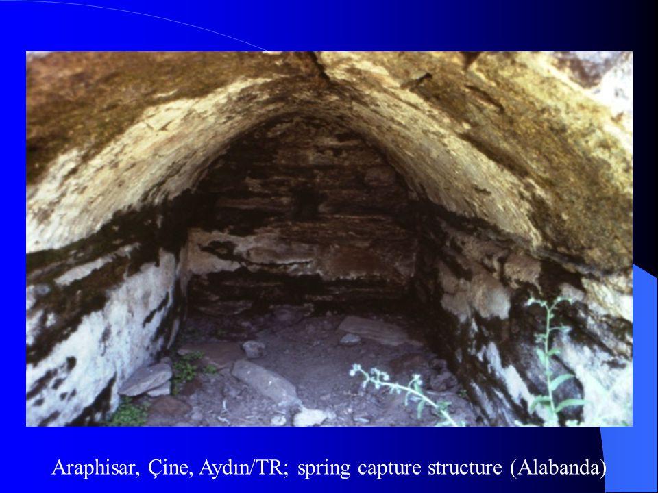 Araphisar, Çine, Aydın/TR; spring capture structure (Alabanda)