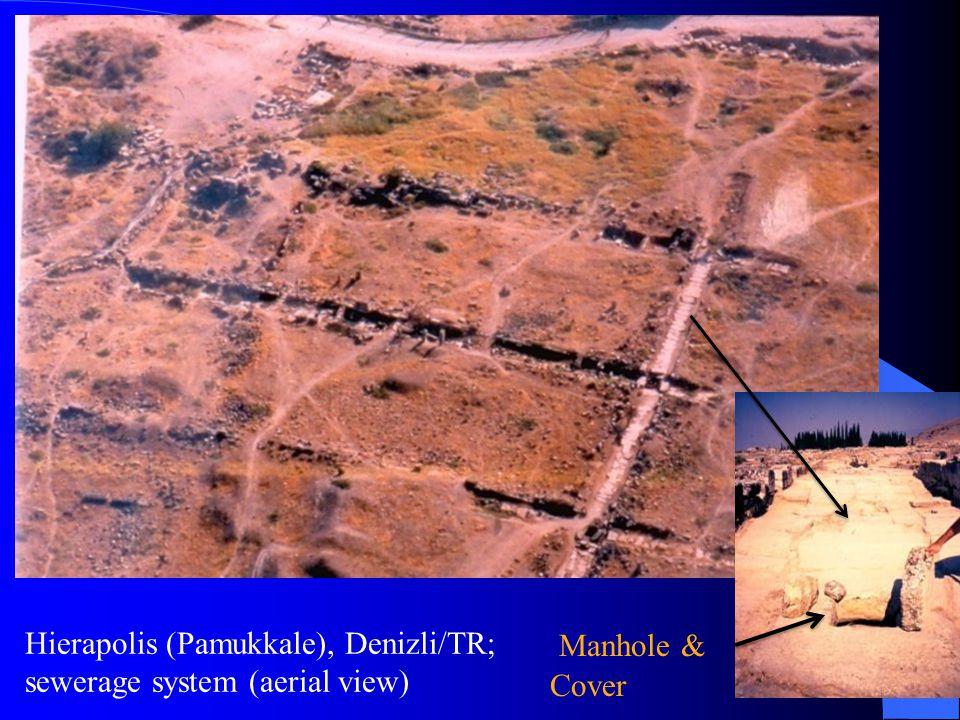 Hierapolis (Pamukkale), Denizli/TR; sewerage system (aerial view) Manhole & Cover