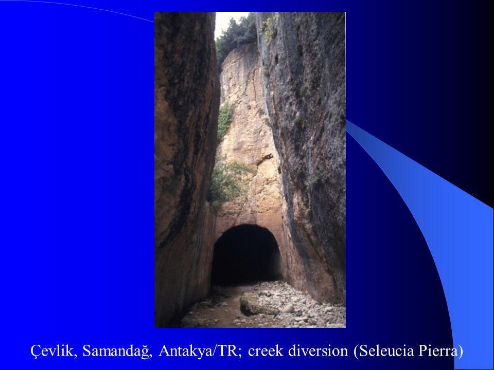 Çevlik, Samandağ, Antakya/TR; creek diversion (Seleucia Pierra)