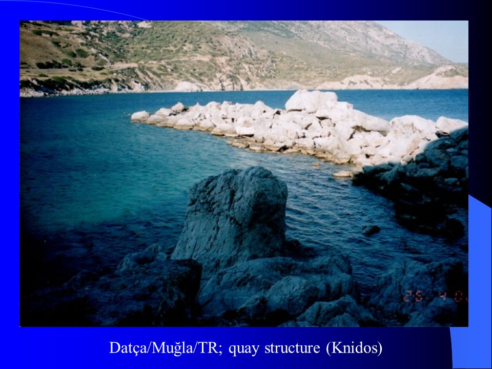 Datça/Muğla/TR; quay structure (Knidos)