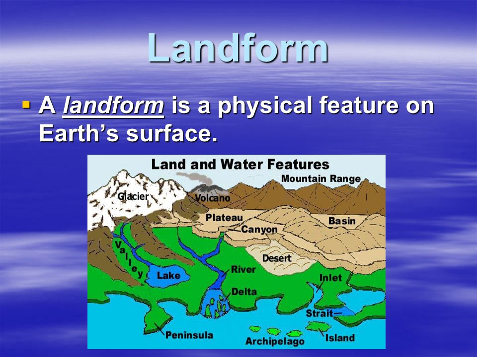 Landform  A landform is a physical feature on Earth's surface.