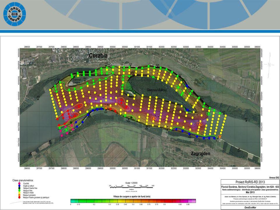 Survey – Corabia; -Bathymetry profiles -Current-meter profiles -Discharge and flow velocity measurements -Sediments measurements
