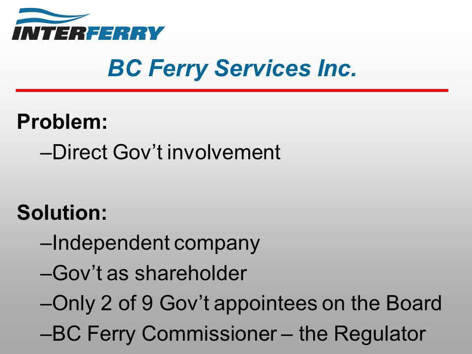 BC Ferry Services Inc.