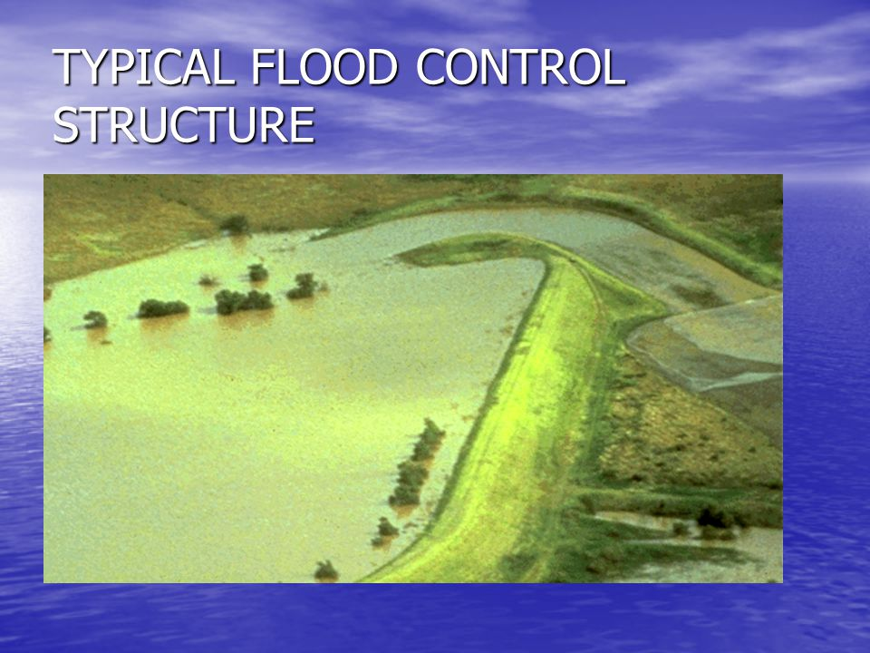 TYPICAL FLOOD CONTROL STRUCTURE