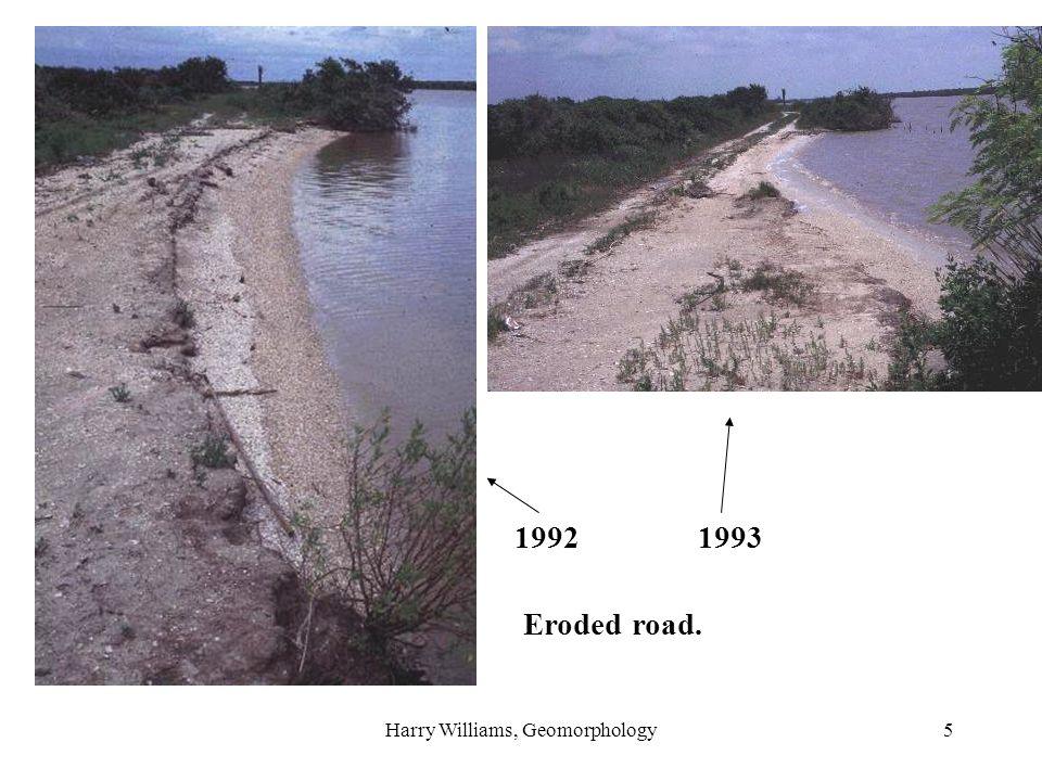 Harry Williams, Geomorphology5 1992 1993 Eroded road.