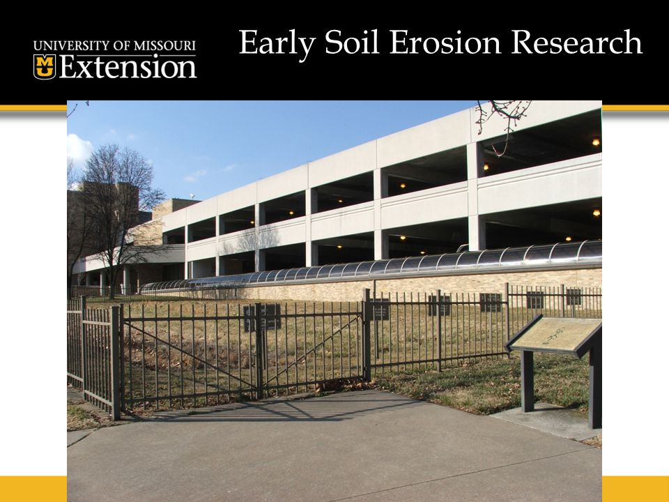 Early Soil Erosion Research