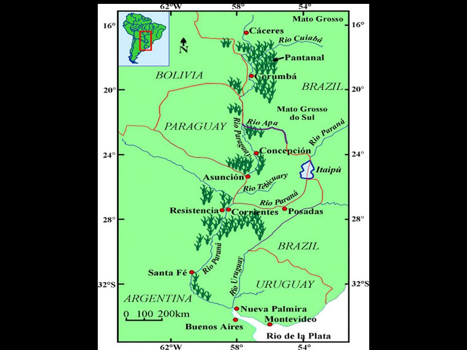 Timeline A channelized waterway into the heart of South America is an old idea and the Paraguay-Paraná have been navigated for many decades.