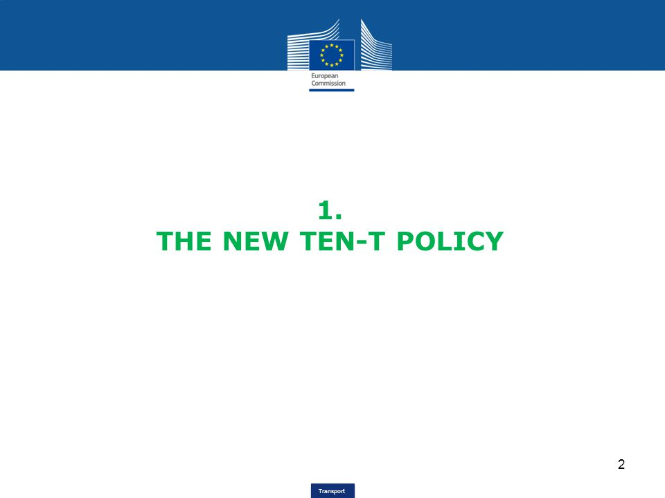 Transport TEN-T development since 1996 1996TEN-T Guidelines for EU 15 (Dec.