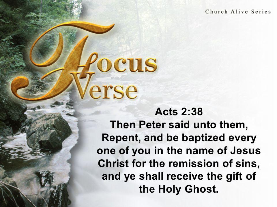 I.The Necessity of Water Baptism 3. Holy Spirit.