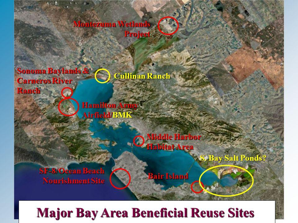 Montezuma Wetlands Project Hamilton Army Airfield/BMK Sonoma Baylands & Carneros River Ranch Major Bay Area Beneficial Reuse Sites SF-8/Ocean Beach Nourishment Site Middle Harbor Habitat Area Bair Island Cullinan Ranch S.