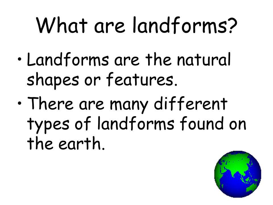 Main Landforms
