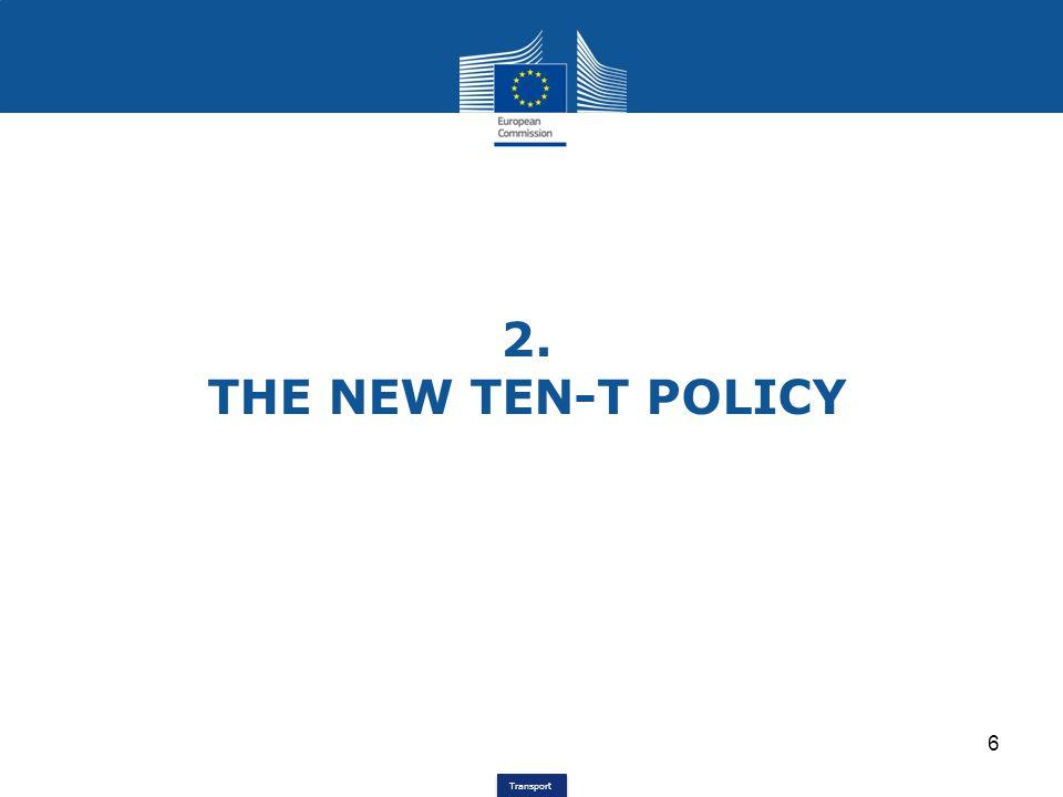 Transport TEN-T development since 1996 1996TEN-T Guidelines for EU 15 (Dec.