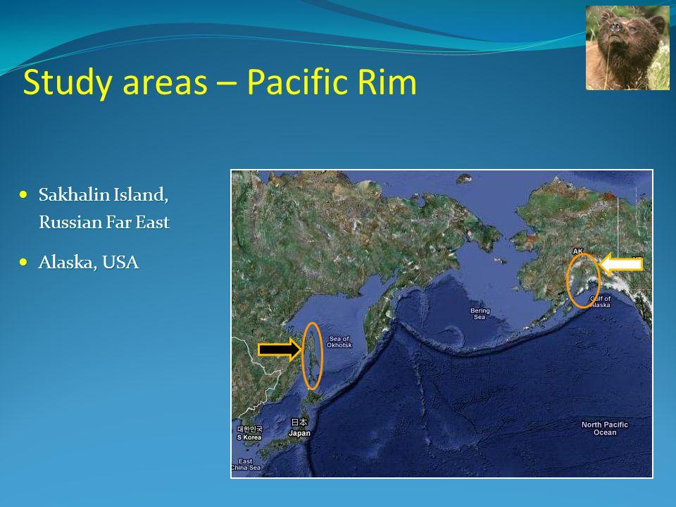 Study areas – Pacific Rim Sakhalin Island, Sakhalin Island, Russian Far East Alaska, USA Alaska, USA
