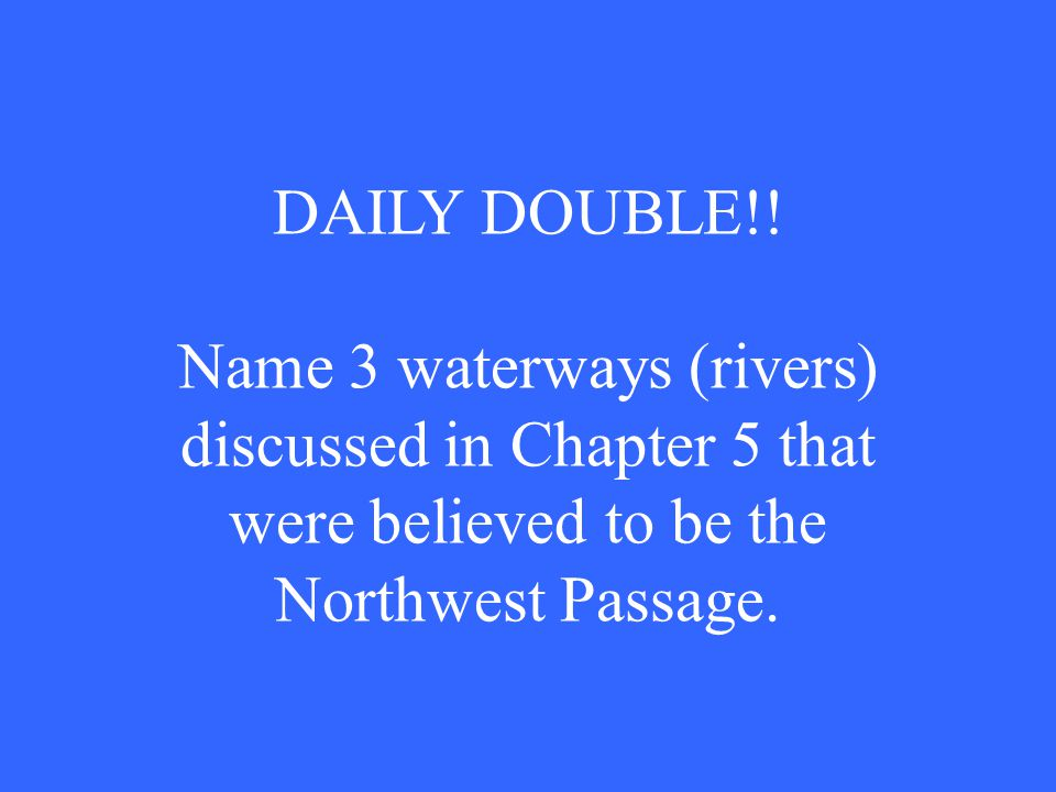 DAILY DOUBLE!.