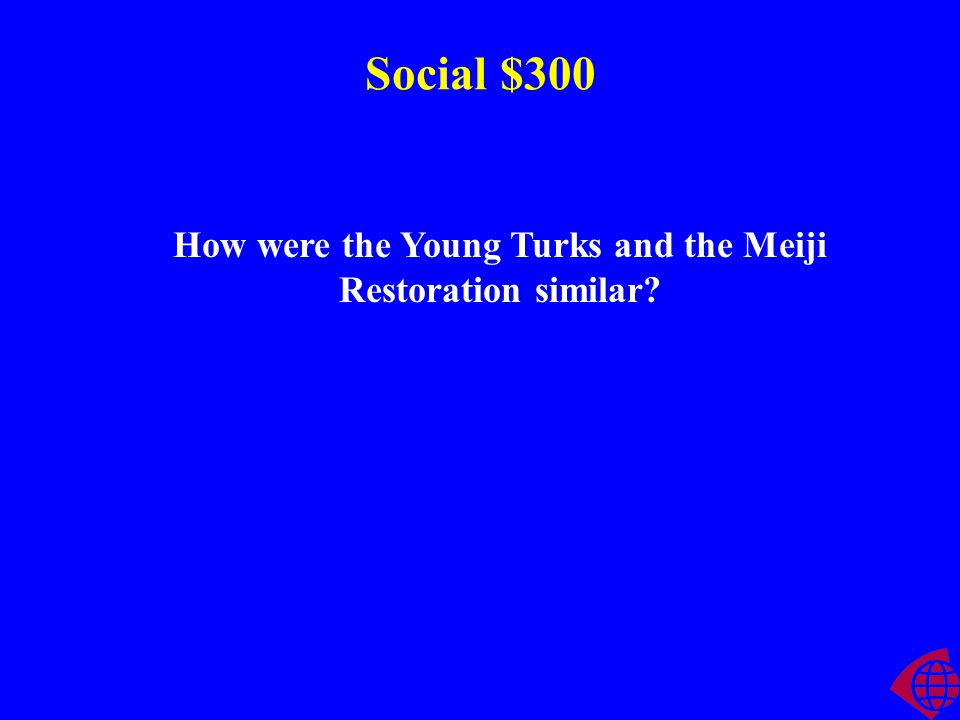 Social $200 The Ottoman instituted the ______________ reforms to stop the decline of the empire