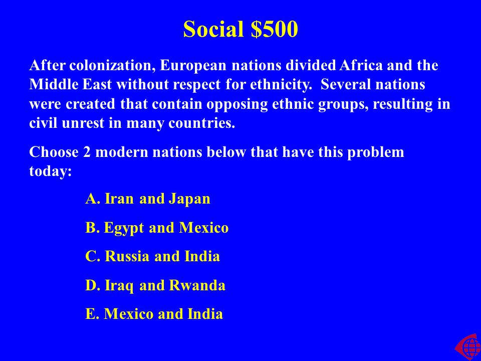 Social $400 Explain Muslim and Christian views of slavery