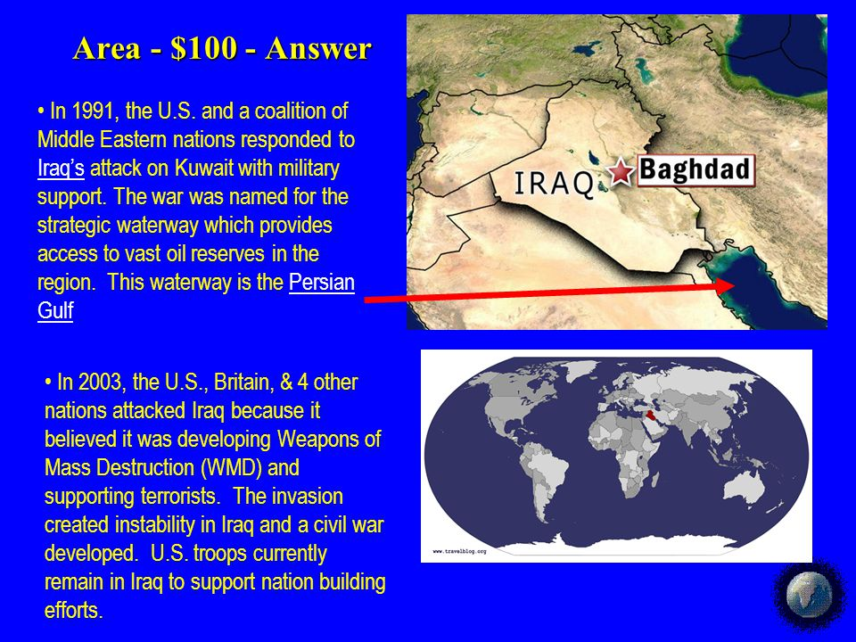 Area - $500 Area - $500 Explain how Israel was created and why this has led to instability in the Middle East