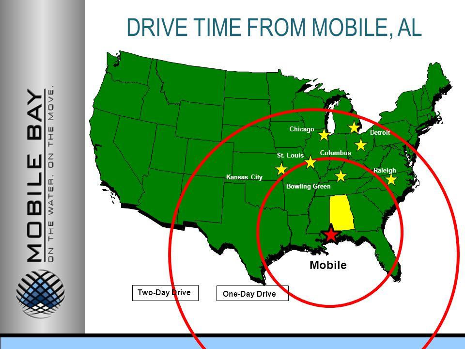 DRIVE TIME FROM MOBILE, AL Kansas City Columbus Detroit Chicago St.
