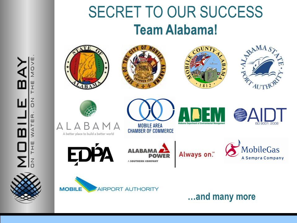 Team Alabama! …and many more SECRET TO OUR SUCCESS