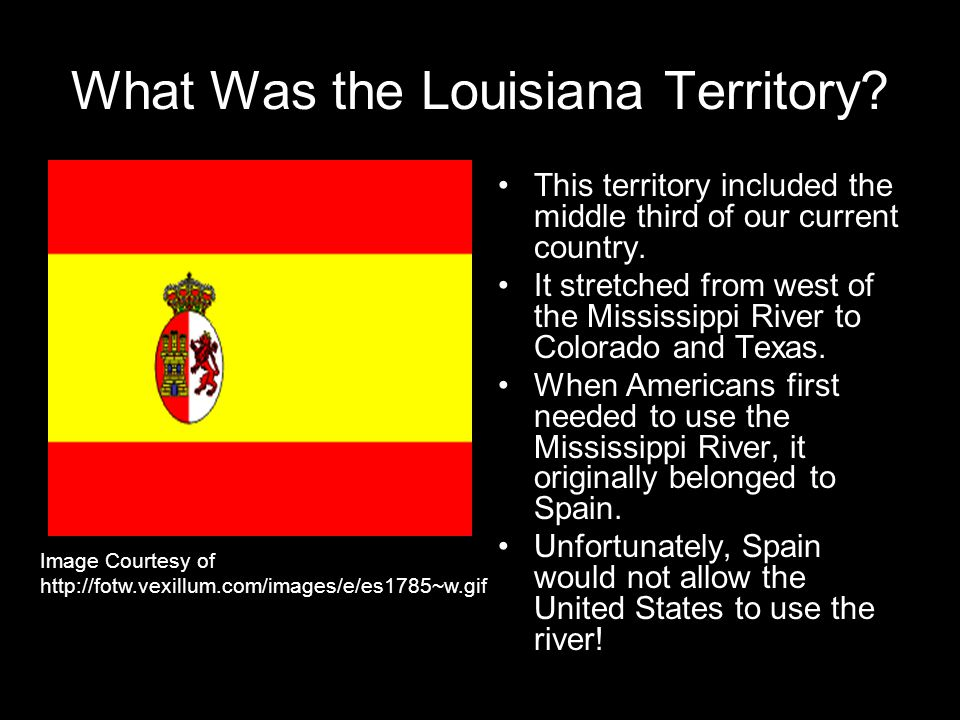 What Was the Louisiana Territory. This territory included the middle third of our current country.