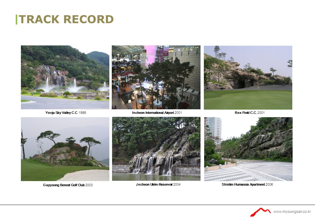 www.myoungsan.co.kr TRACK RECORD Yeoju Sky Valley C.C.