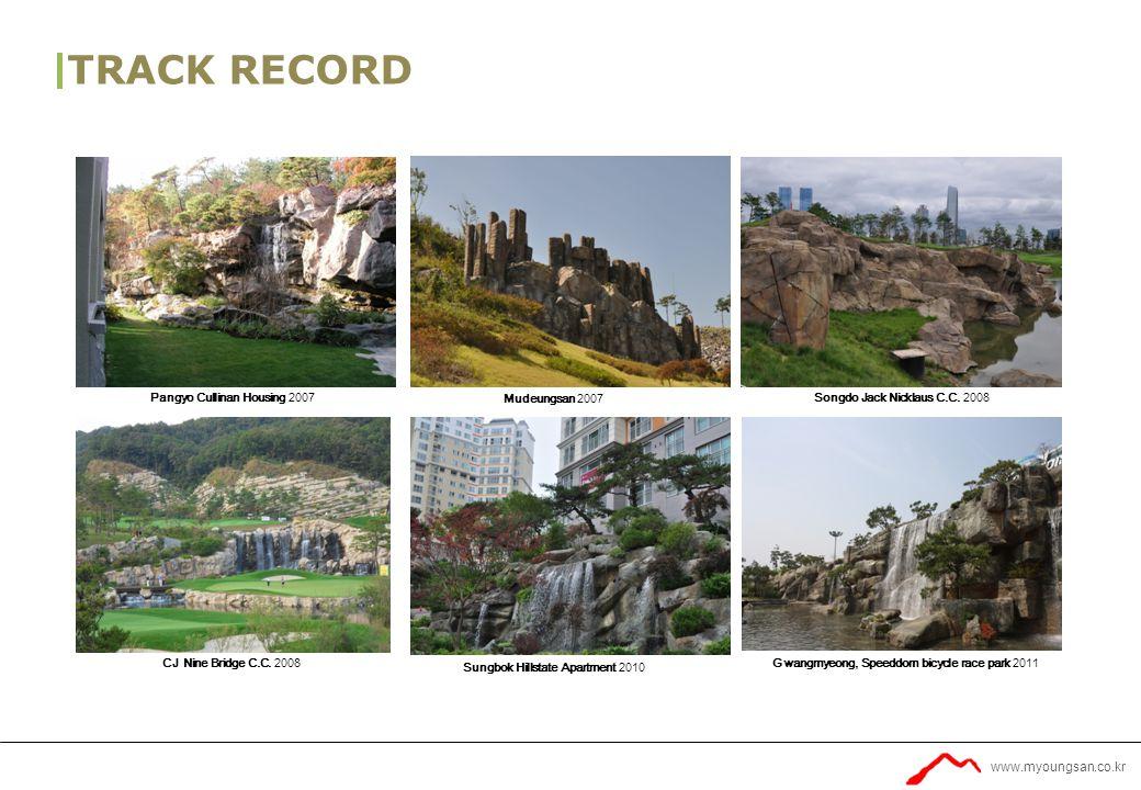 www.myoungsan.co.kr TRACK RECORD Ulsan, Posco The sharp apartment 2013Sunchen, Garden exhibition.