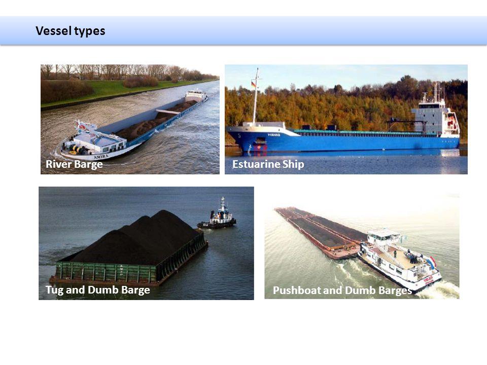 Vessel types Tug and Dumb Barge Estuarine Ship Pushboat and Dumb Barges River Barge