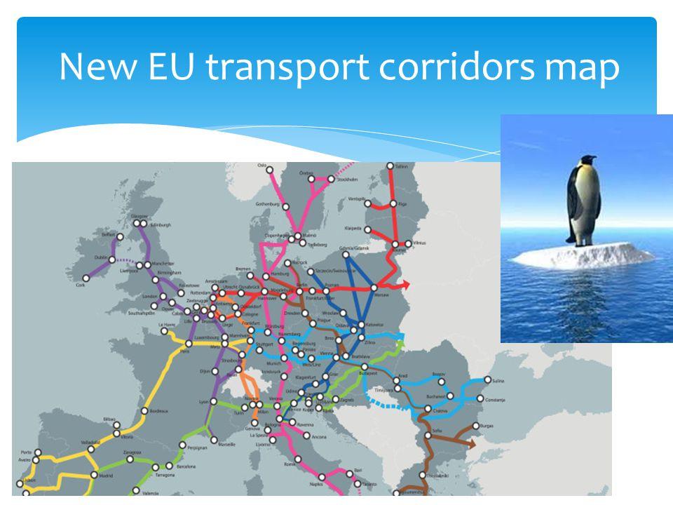New EU transport corridors map