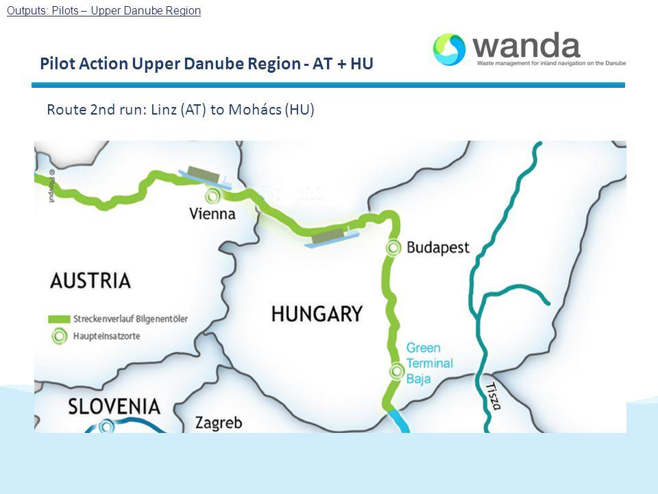 Pilot Action Upper Danube Region - AT + HU Route 2nd run: Linz (AT) to Mohács (HU) Outputs: Pilots – Upper Danube Region