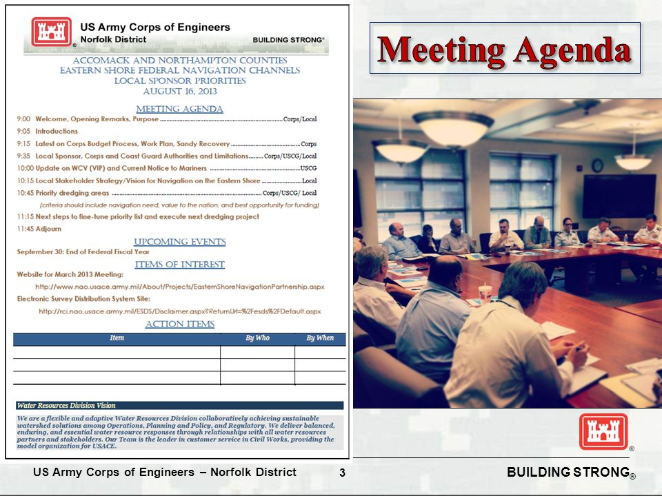 BUILDING STRONG ® US Army Corps of Engineers – Norfolk District 3