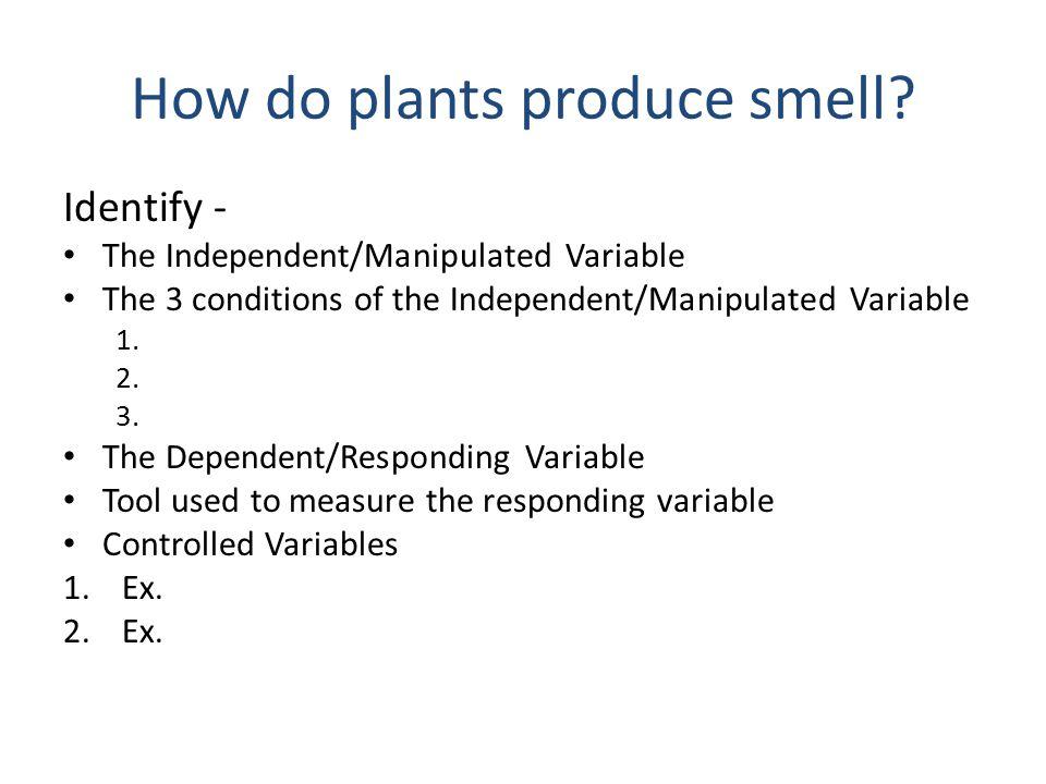 How do plants produce smell.