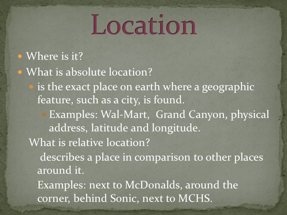 How are places similar or different.
