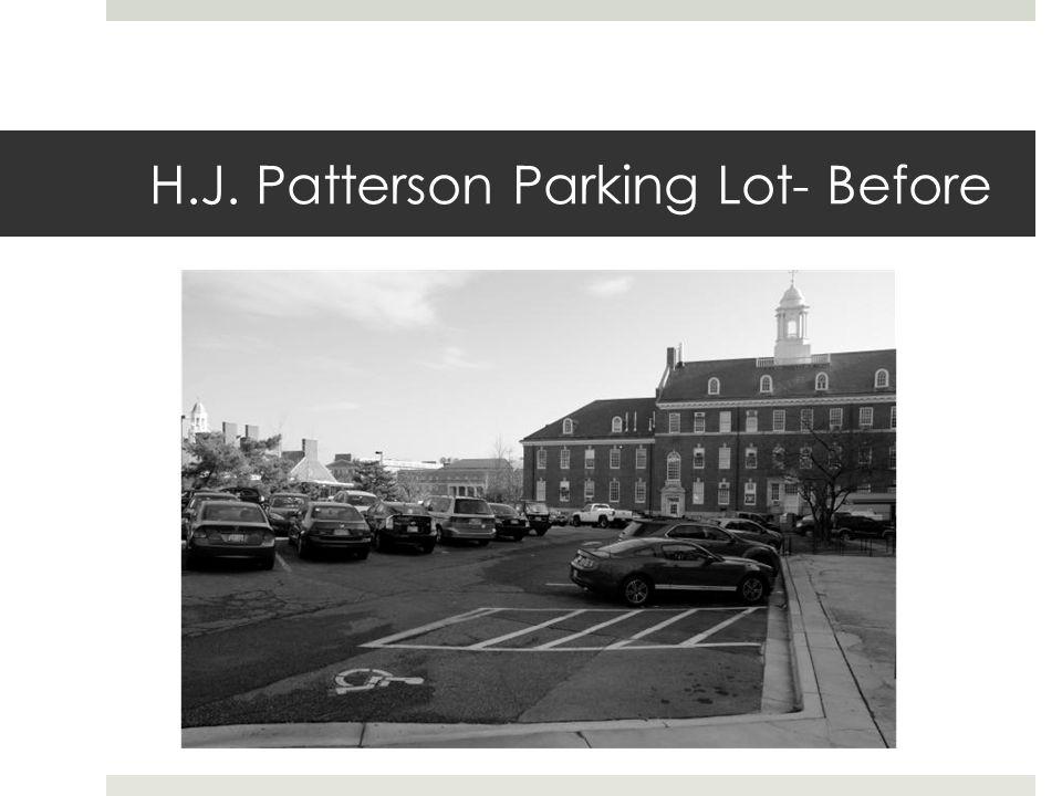 H.J. Patterson Parking Lot- Before