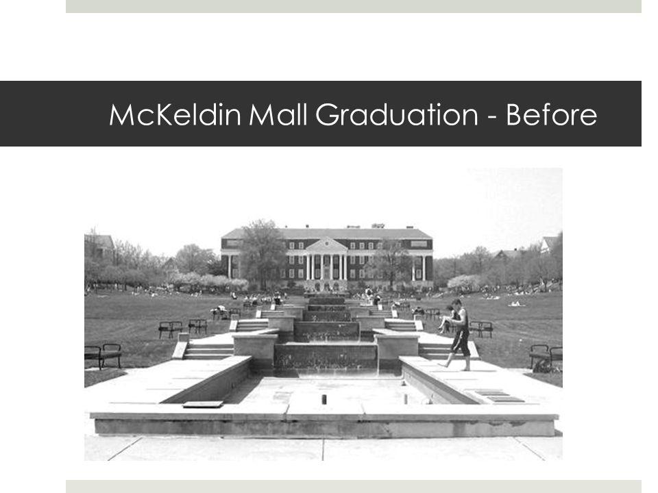 McKeldin Mall Graduation - Before