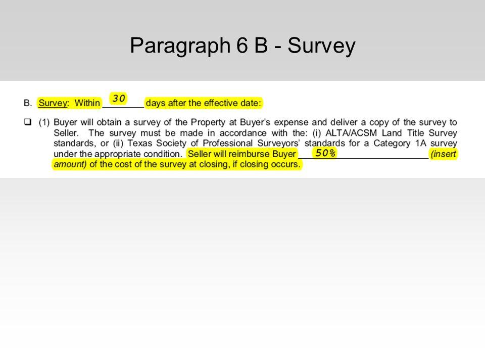 Paragraph 6 B - Survey