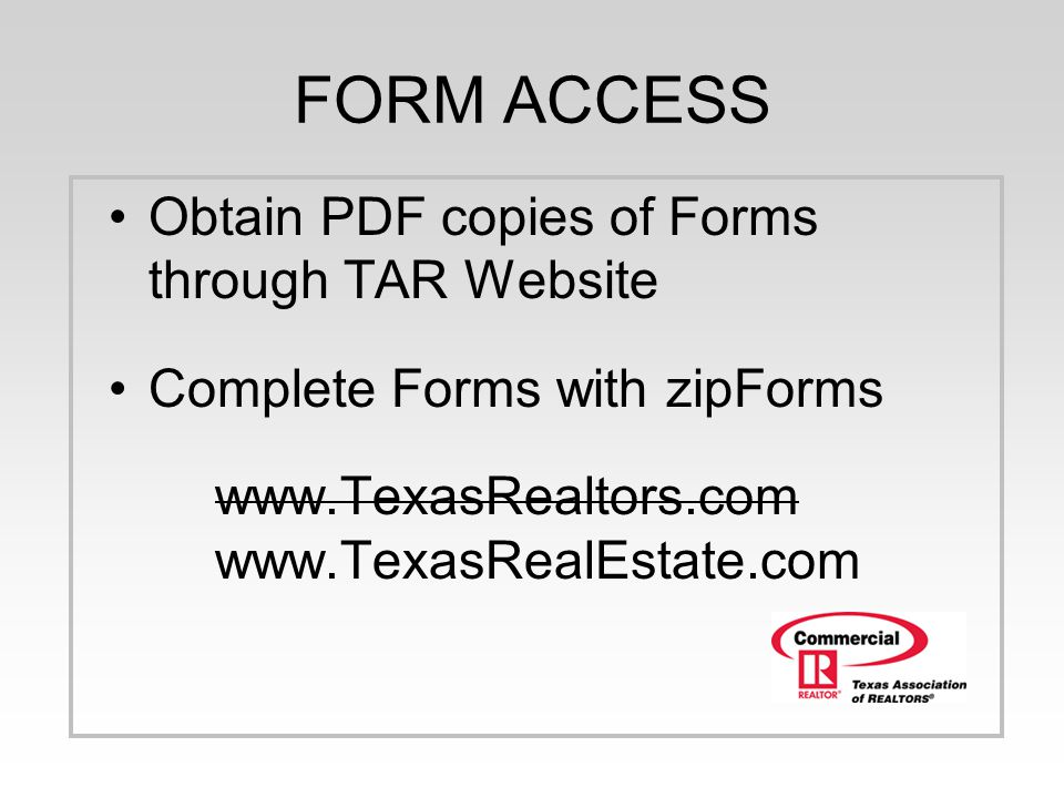 Commercial Webinar Series 1 hour presentation TAR Commercial ...