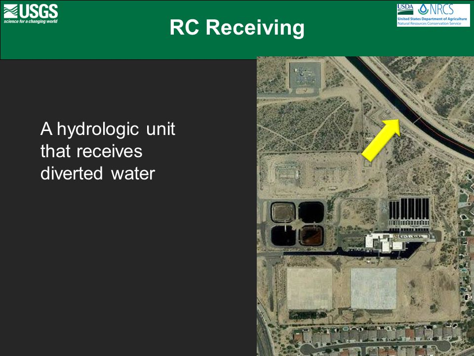 RC Receiving A hydrologic unit that receives diverted water