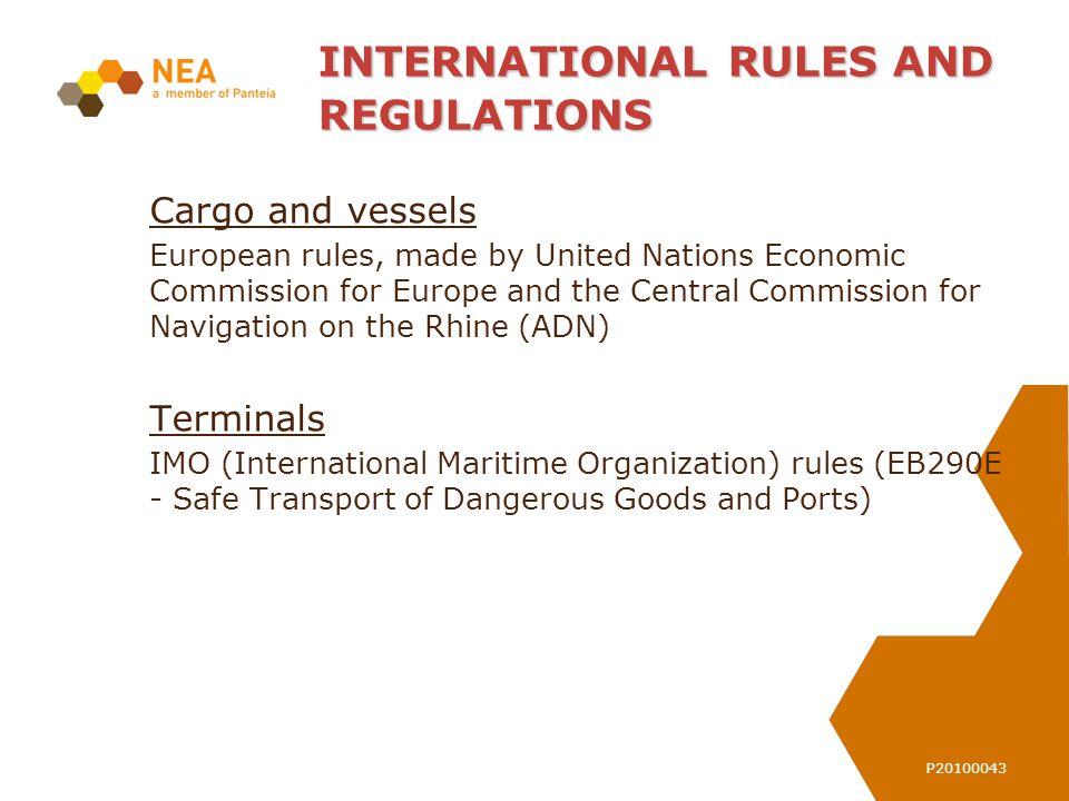 Registratienr: Double hull vessels – liquid products Type N – 72% Type C – 28% 0.60 meter 0.80 meter 1.00 meter 709 Double Hull barges – EBIS - 2010 306 Single Hull barges- EBIS - 2010 EUROPEAN RULES (ADN)