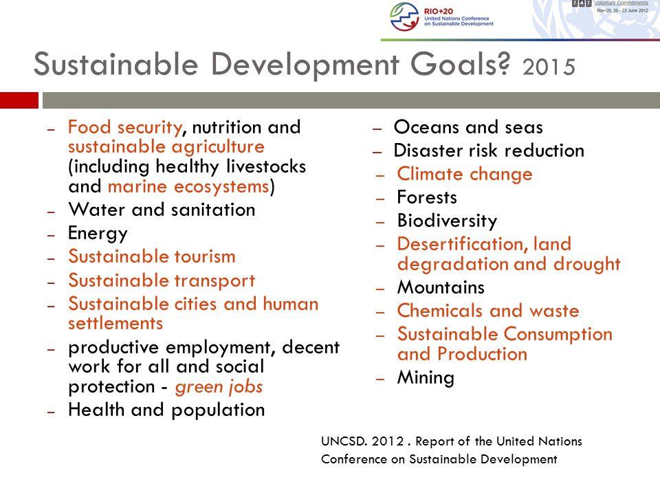 Sustainable Development Goals.