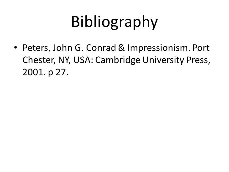 Bibliography Peters, John G. Conrad & Impressionism.