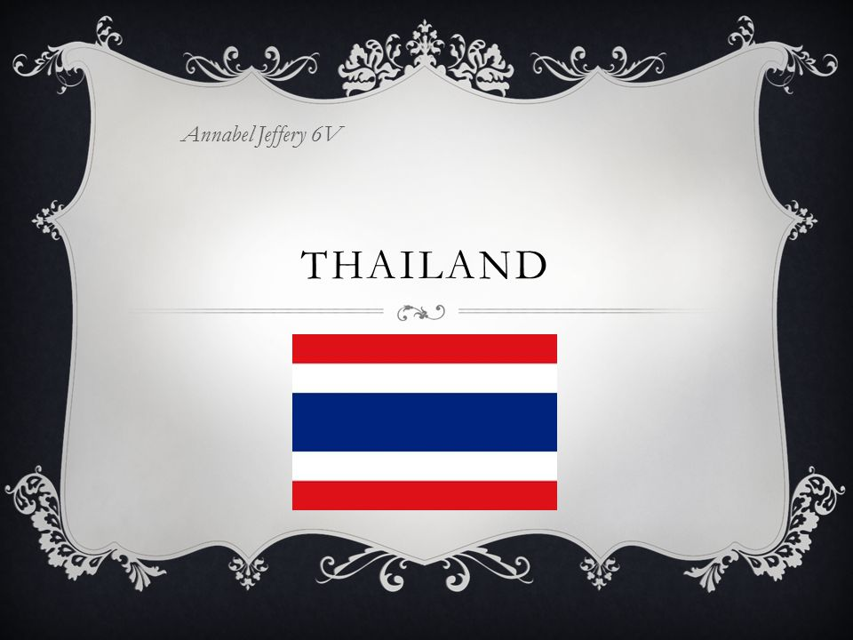 THAILAND Annabel Jeffery 6V