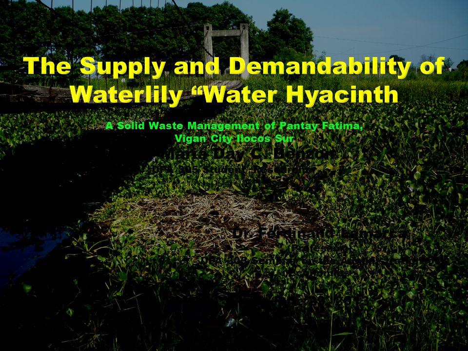 A Solid Waste Management of Pantay Fatima, Vigan City Ilocos Sur By Maria Day C. Benzon DPA 305 Student/ Researcher Dr. Ferdinand Lamarca (Professor))